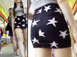 【中国街撮り盗撮動画】ミニタイトスカートに着衣巨乳…エロ過ぎるボディラインのチャイニーズを街中で隠し撮りwwの画像