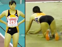 【陸上女子盗撮動画】第103回日本選手権の走り幅跳びに出場した美人アスリート『嶺村優(みねむらゆう)』を隠し撮りwwの画像