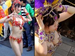 【ウニアンサンバ盗撮動画】紫姫&オレンジ姫をくにたち富士見台フェスティバル2018で4K映像の隠し撮りwwの画像