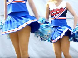 【女子大生チアガール盗撮動画】千葉商科大学チアサークル『glitter#8217;s』があじさい祭でダンスを披露した様子を隠し撮りwwの画像