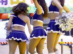 【チアガール盗撮動画】アースフレンズ東京Zの専属チアガール『Zgirls』が浦田ファミリーフェスティバルでパンチラ連発wwの画像