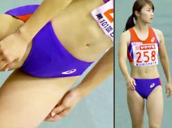 【末永成美盗撮動画】美人アスリートとして有名な走り幅跳び選手を日本陸上競技選手権大会で隠し撮りwwの画像