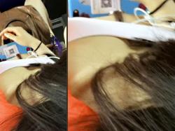 【胸チラ盗撮動画】バスで通学する胸元がガバ開きの服を着た女子大生の谷間を頭上から隠し撮りwwの画像