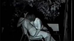 【素人青姦盗撮動画】深夜の公園で性行為してる若いカップルを赤外線カメラで撮影…彼女の腰使いがヤバイ!の画像