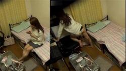 【家庭内盗撮動画】お姉ちゃんの部屋に隠しカメラを置いた結果…机やベッドの角にオマンコを押し付けオナニーwwwの画像