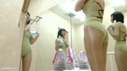 【バレエ着替え盗撮動画】巨乳のレオタード美女のヌード姿が超神!お願いしますヤラせて下さい!の画像
