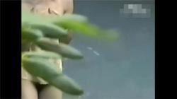 【露天風呂盗撮動画】美尻のお姉さんの全身を映した隠し撮り動画流出!スリムな身体を覗けて楽しめます!の画像