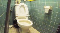 【トイレ盗撮動画】まさか真正面に隠しカメラがあったなんて!アソコを拭き取る様子を撮られたお姉さん!の画像