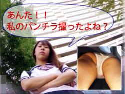 片想いのJKを逆さ撮りしてしまったパンチラ盗撮動画の画像