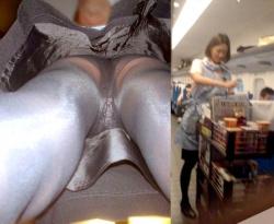 新幹線の女性客室乗務員(パーサー)のパンチラと制服エロ画像の画像