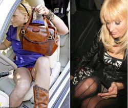 車の乗り降りでパンチラしている外人セレブのエロ画像の画像
