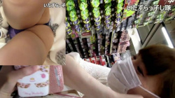 【パンチラ盗撮】いたずらっ子し隊モノ紫ってビッチなパンティ履いてる素人嬢を追跡パンチラ盗撮の画像