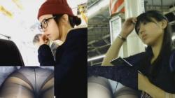 【パンチラ盗撮】メチャ可愛い素人嬢達のストッキング越しのパンチラ盗撮がエッチの画像