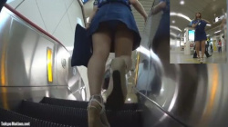 【パンチラ盗撮】ちょいポチャな可愛い素人嬢を追跡パンチラ盗撮敢行の画像