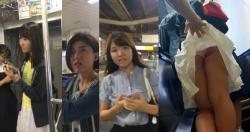 【パンチラ盗撮】ある駅にて色んな女の子達のスカートメクリパンチラ盗撮犯罪だよね・・・・やっぱの画像