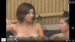【お風呂盗撮】若い2人のちょい日焼け跡がエッチな入浴盗撮熟女のカットインも見逃せないの画像