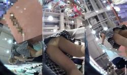 【パンチラ盗撮】某ショップの可愛い店員さんに接客されながらのパンチラ逆さ撮り盗撮の画像