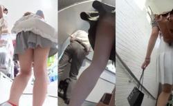 【パンチラ盗撮】デパートや階段・・・パンチラスポットでの王道パンチラ盗撮の画像