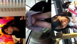 【パンチラ盗撮】時計の男再び・・・捲り盗撮に超ドキドキスポーツ系JKやOLさん達が餌食に・・・の画像
