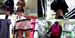 【パンチラ高画質盗撮】街でロックオンされた女の子達追跡パンチラ逆さ撮り盗撮の画像