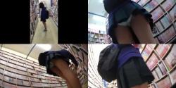 【パンチラ盗撮】書店にてちょ若そうな女の子ロックオンこれまた臭そうなパンティが大興奮な盗撮動画の画像