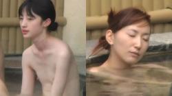 【お風呂盗撮】気の緩んだOLさんの表情がいい貧乳超カワイイ女の子の油断した裸体盗撮の画像