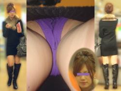 OL逆さ撮り画像!仕事終わりのお姉さんのパンツを逆さ撮りした画像の画像