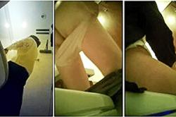 盗撮【女子トイレ】~「飲食店」の「WC」に「盗撮カメラ」を設置~下方から「おマ●コ」&「オシッコ」を隠し撮り~! !の画像