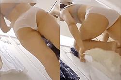 盗撮 レディースショップ【試着室】~「JC女子」の「洋服」選び~「若い娘」の「生ブラ」&「透け気味パンツ」を隙間から撮影~!!の画像