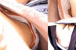 盗撮 のぞき込み【胸元】~運動会で見つけた「微乳」の「若ママ」~「浮きブラ」の中の「乳頭」&「オッパイ」を隠し撮り~!!の画像