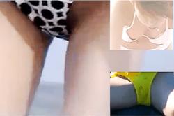 《高画質》盗撮【ビキニ女子】~「ビーチ」で見つけた「出ちゃった」動画~「乳首」「オッパイ」&「ハミ具」と「ハミ毛」~!!の画像