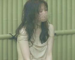 露天風呂覗き 濡れた黒髪が色っぽいね!温泉を楽しむお姉さんを隠し撮りの画像