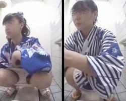 和式便所小便隠撮!浴衣娘たちの排泄風景を隠し撮りの画像
