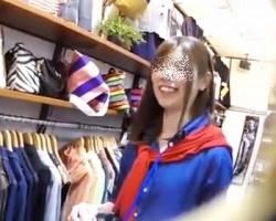 逆さHERO☆初々しい新人ショップ店員さんの柄Pを逆さ撮りの画像