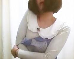健康診断更衣室を隠し撮り!ボブヘアが可愛いお姉さんの生乳GET!の画像