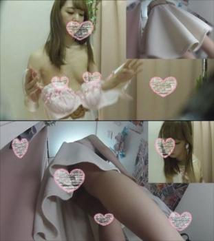 着替え盗撮 すました顔したお嬢様JDのおすましおっぱいブラ試着 僕のお店の試着室32の画像