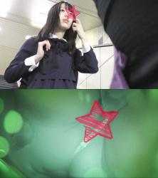 【電車痴漢】顔出し制服JK★ガチお嬢様校まさかのTバック★カメラに美少女のお漏らし直撃の画像