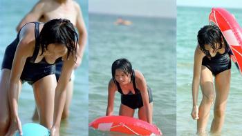【スク水】発展途上の美少女たちのスク水姿を盗撮の画像