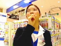 【盗撮動画】サプリよりも効果覿面!D〇Cの生真面目そうな店員さんのTバックパンチラ♪の画像