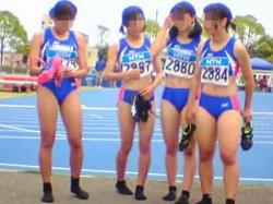 【盗撮動画】陸上競技で鍛え上げられた女子アスリートたちの太ももと美尻にロックオン♪の画像