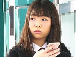 【盗撮動画】朝の通学電車内で痴漢たちにダブルで中出しレイプされた美マン女子校生♪の画像