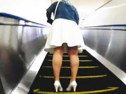 【盗撮動画】スカート女子たちの素顔を確認してからスカメクで眺める美味しいパンチラ絶景♪の画像