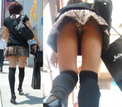 可愛いお姉さん達の生パンツ盗撮!清楚な格好して普段どんな下着を履いているかが分かる姿付き逆さ撮り( ^ω^ )の画像