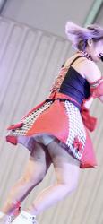 アイドルの野外イベントで恥ずかしいパンチラ!スパッツ履き忘れ?!ショーパンやスパッツの隙間からはみ出した瞬間を盗撮!大興奮( ^ω^ )の画像