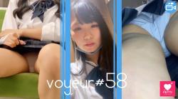 【voyeur#58】対面盗撮がバレた!しかし、まさかの行動に出た変態JKの画像