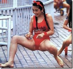 昔はアイドル水泳大会で見られたアイドル達の水着姿wwwの画像
